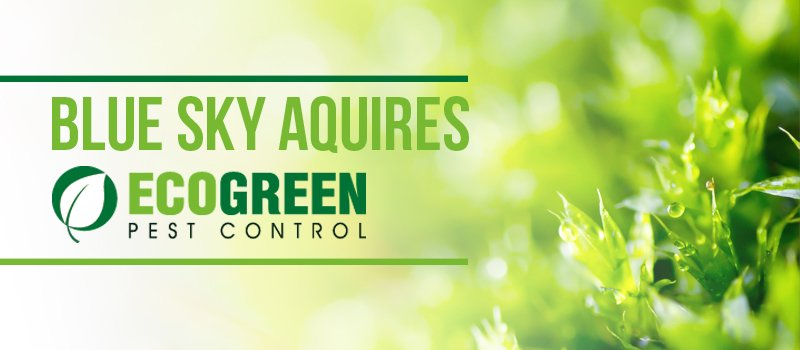 blue sky pest aquires eco green